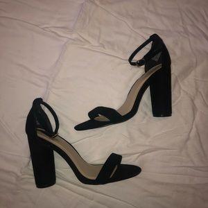 velvet black heels